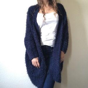 Zara Knit Fuzzy Oversized Cardigan